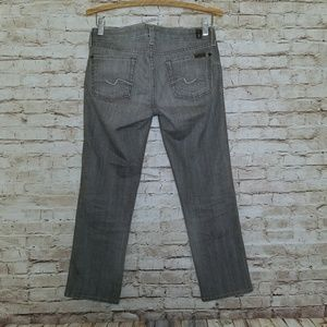 7 for all Mankind Carol Crop Gray Denim Jeans